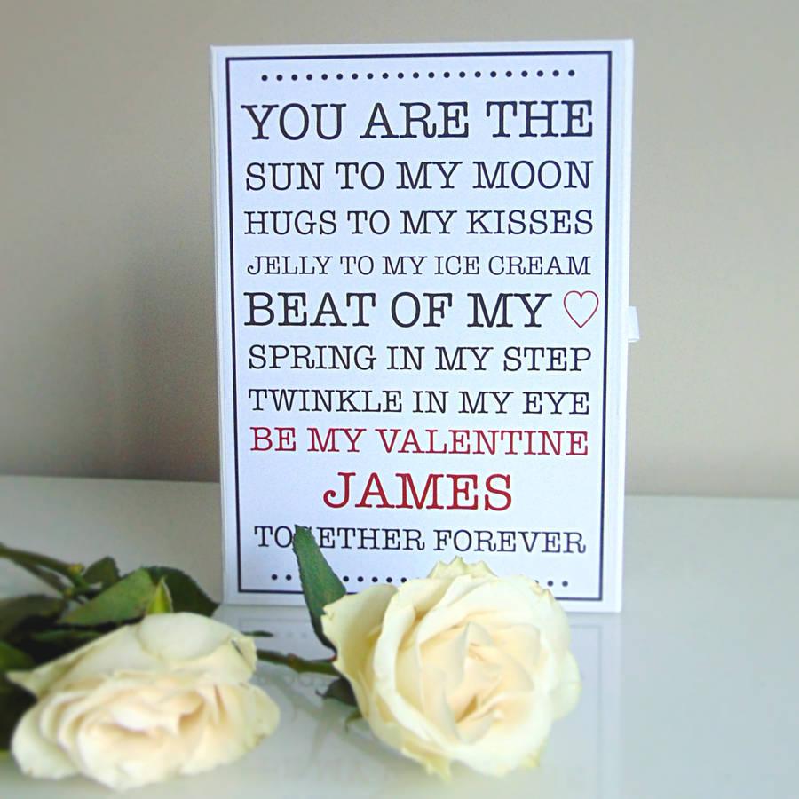 Personalised Valentine's Box