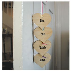 Personalised Hanging Hearts - hanging decorations