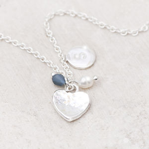Deni Silver Heart Personalised Necklace - necklaces & pendants