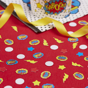 Comic Superhero Party Table Confetti - what's new