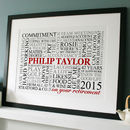 Personalised Retirement Word Art