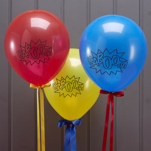 Comic Superhero 'Kaboom' Party Balloons
