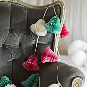 Honeycomb Bell Garland - room decorations