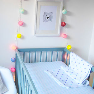Kite Design Fitted Cot Sheet - baby's room