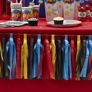 Comic Superhero Party Tassel Garland