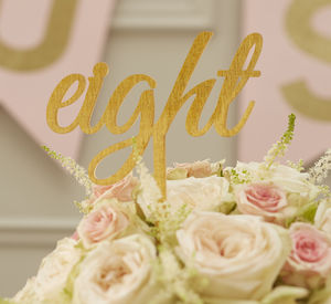 Gold Sparkle Acrylic Wedding Table Numbers - table decorations