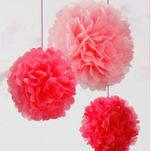Set Of Three Pink Pom Poms