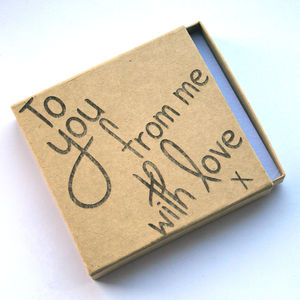 Kraft Brown Card Engraved Gift Box - wrapping