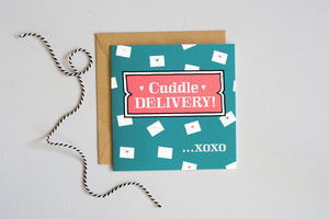 'Cuddle Delivery' Card - sympathy & sorry cards