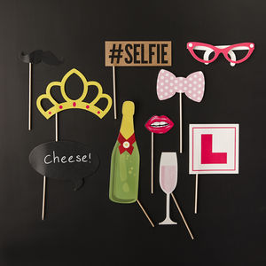 Photo Booth Props Hen Party - hen party styling