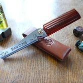 Man Comb With Leather Case - health & beauty