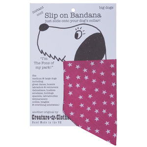 40% Off Pink And White Star Print Bandana