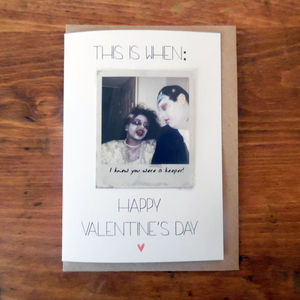 Personalised Polaroid Style Valentine's Day Card - anniversary cards