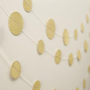 Gold Glitter Sparkle Hanging Confetti Garland - bunting & garlands