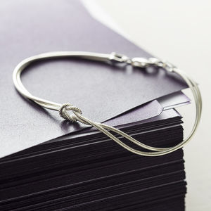 Tying The Knot Sterling Silver Bracelet - gifts for her