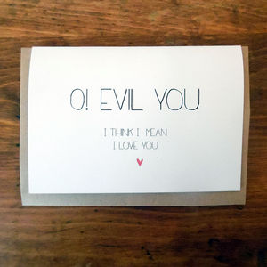 I Love You Anagram Card - funny cards