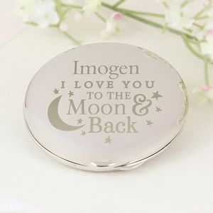 Love You To The Moon And Back Compact Mirror