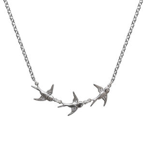 Silver Take Flight Swallow Necklace