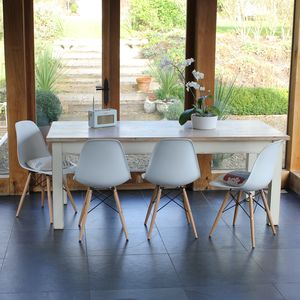 Painted Classic Table With Eames Style Chairs - furniture