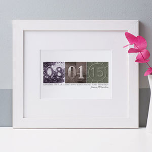 Personalised Date Art Print - engagement gifts