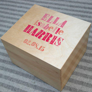 Personalised Letterpress Keepsake Box