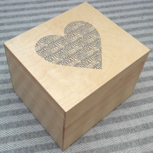 Personalised Heart Keepsake Box - gifts for couples