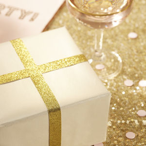 Gold Sparkle Glitter Ribbon - cards & wrap