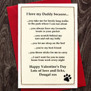 Personalised Valentines Card From The Dog