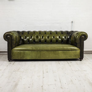 Restored Three Seater Chesterfield Sofa - living room