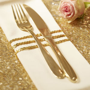 Gold Sequin Ribbon - mint, blush & gold