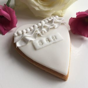Five Personalised Biscuit Wedding Favours - edible favours