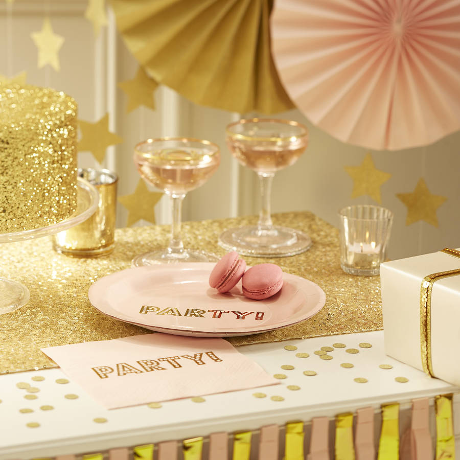 pastel pink circle fan decorations by ginger ray ...