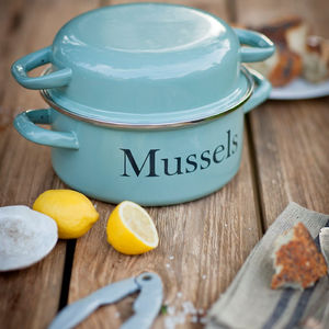 Enamel Mussel Pot - kitchen accessories