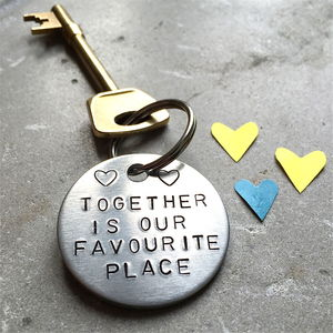 Together Couples Anniversary Keyring - keyrings