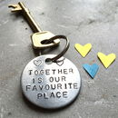 Together Couples Anniversary Keyring