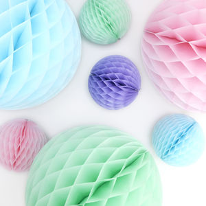 Easter Pastel Paper Ball Collection - easter home