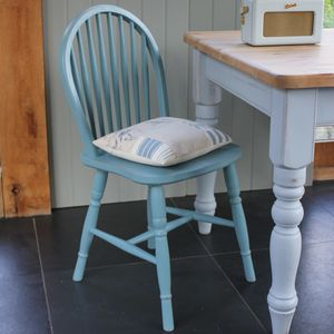 Farmhouse Table And Hoop Back Chairs Hand Painted - furniture
