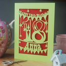 Metallic lime card and dark red insert