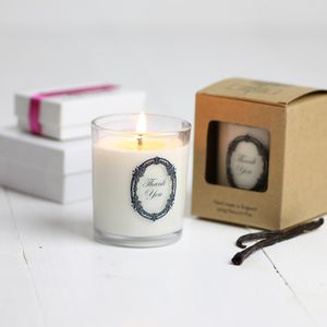 'Thank You' Scented Candle Gift - table decoration
