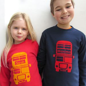 Personalised Bus T Shirt - gifts for children