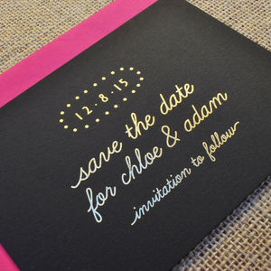 Spotlight Foiled Wedding Save The Date