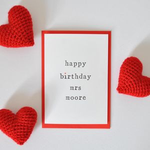 Personalised 'Happy Birthday Mrs' Birthday Card - birthday cards