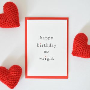 Personalised 'Happy Birthday Mr' Birthday Card