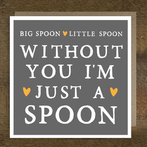 'Big Spoon Little Spoon' Valentine's Day Card - valentine's cards