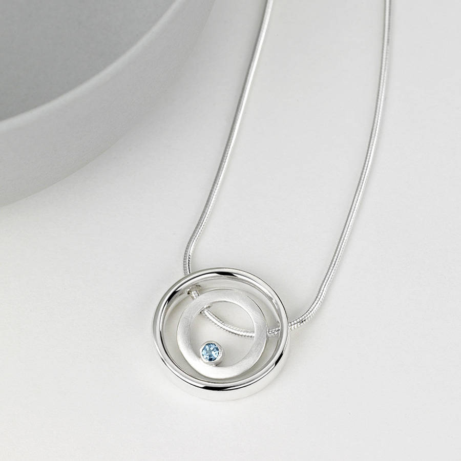 aquamarine rect faceted shop lumina aqua pendant jewellery carat marine