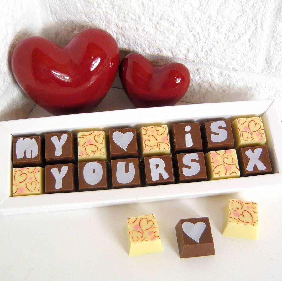 I Love You Personalised Box Of Chocolates By Cocoapod Chocolates