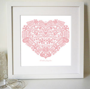Personalised Anniversary Or Wedding Love Token Print