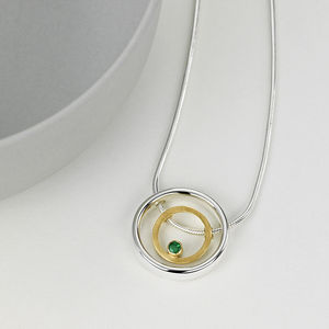 Emerald Halo Birthstone Pendant - view all fine jewellery