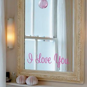 'I Love You' Mirror Sticker - wall stickers