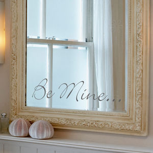'Be Mine' Mirror Sticker - wall stickers